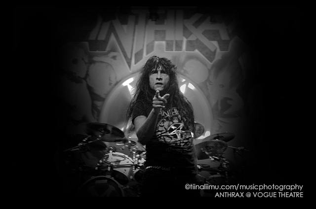 ANTHRAX; The Vogue Theatre; Vancouver; 2012; tiina liimu music photography