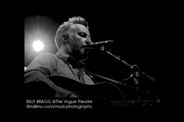 BILLY BRAGG @ The Vogue Theatre; Vancouver; 2012; tiina liimu music photography