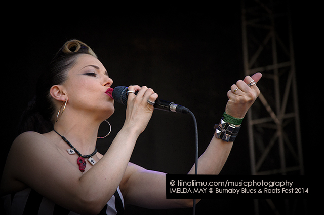 IMELDA MAY; Burnaby Blues and Roots Festival; Vancouver; 2014; tiina liimu music photography