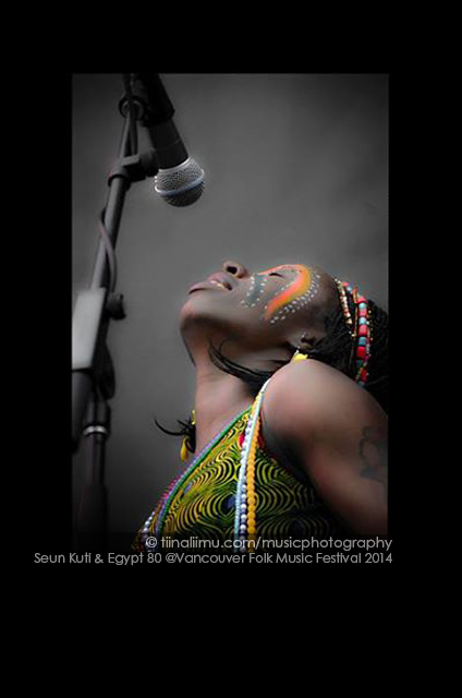 Seun Kuti & Egypt 80 at Vancouver Folk Music Festival 2014 - tiina liimu music photography
